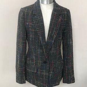 Gray Plaid BB DAKOTA Wool Blend Blazer Size 6